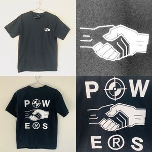 🔥Powers handshake shirt medium Streetwear